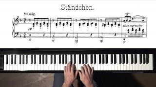 Schubert Ständchen (Serenade) FREE Sheet Music - P. Barton FEURICH piano