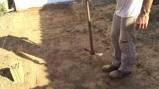 Como fazer o nivelamento da area do terreno construçao contra piso nivelar parte 2