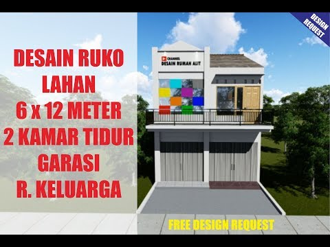 Desain Rumah Minimalis Ruko 2 Lantai  desain rumah toko ruko 2 kamar tidur di lahan 6 x 12 meter