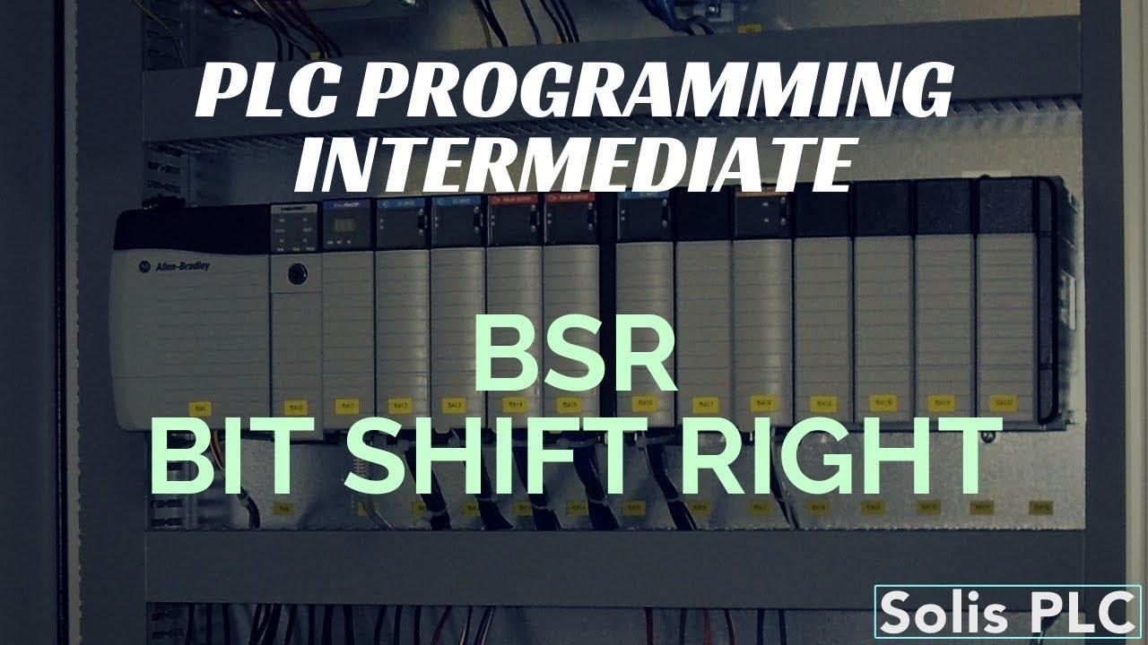 medium resolution of plc programming bsr instruction bit shift right register ladder logic rslogix studio 5000 example