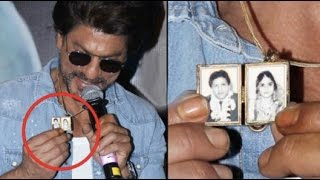 Shahrukh Khan SHOWS his PARENTS PICTURE on his Pendant | Watch Video
