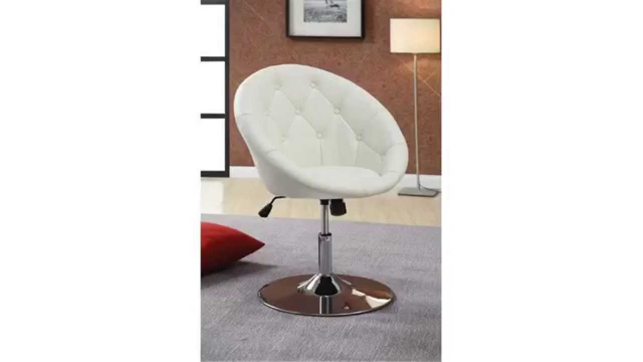 Beautiful Cheap Swivel Chairs | Perfect For My Vanity! | Coaster 102583 Round Back  Swivel Chair, White