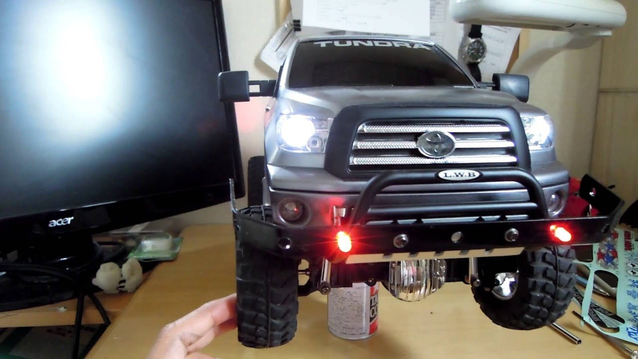 New Toyota Tundra >> Tamiya Toyota Tundra (custom aluminum bull-bar) - YouTube