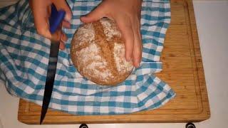 Ev fırınında Tencerede TAM BUĞDAY ekmeği nasıl yapılır - Ekmek hamuru ve ekmek yapılışı ekmek tarifi