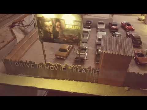 Drive in cinema - Autokino - Movie Theater für Carrera Go Nevada Diorama 1:43 - Part 1