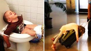 10 Kinder die an den lustigsten Orten eingeschlafen sind 😂😂