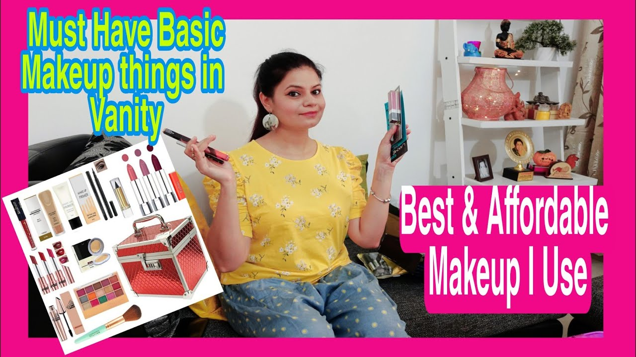 MUST HAVE BASIC MAKEUP💄💅 PRODUCTS IN VANITY-MY DAUGHTER'S & MY BEST/AFFORDABLE MAKEUP kit FT.AMAZON|