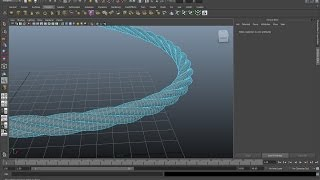 Maya tutorial : How to create twisted rope in Autodesk Maya