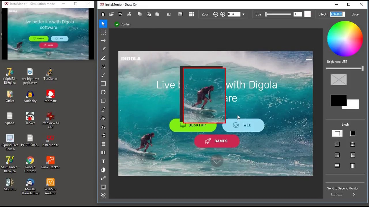 Digola - Dual monitor software, window manager