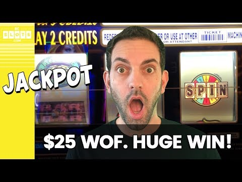 🙀 $25/Spin WOF JACKPOT! 💰 HUGE WIN @ San Manuel ✪ BCSlots #AD