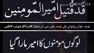 Rizwan Ali Noha 21 Ramzan Shahadat Moola Ali a.s Khoon Mian Tar Dastar Kar D Haider E Karar Ke