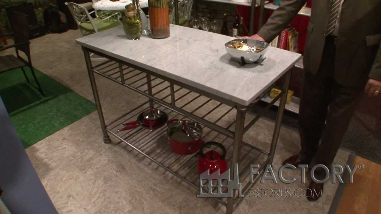 Home Styles Orleans Kitchen Island Factoryestorescom YouTube - The orleans kitchen island with marble top