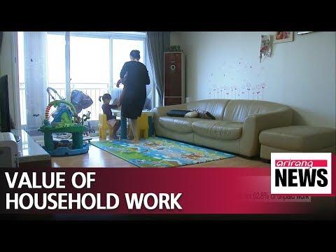 S. Korea's unpaid household service work valued around US$ 318.2 bil. in 2014: gov't data