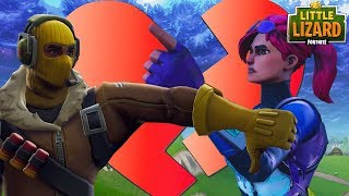 LITTLE KELLY AND RAPTOR BREAK UP!? - Fortnite Short Film