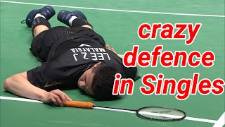 Crazy defence in singles - badminton