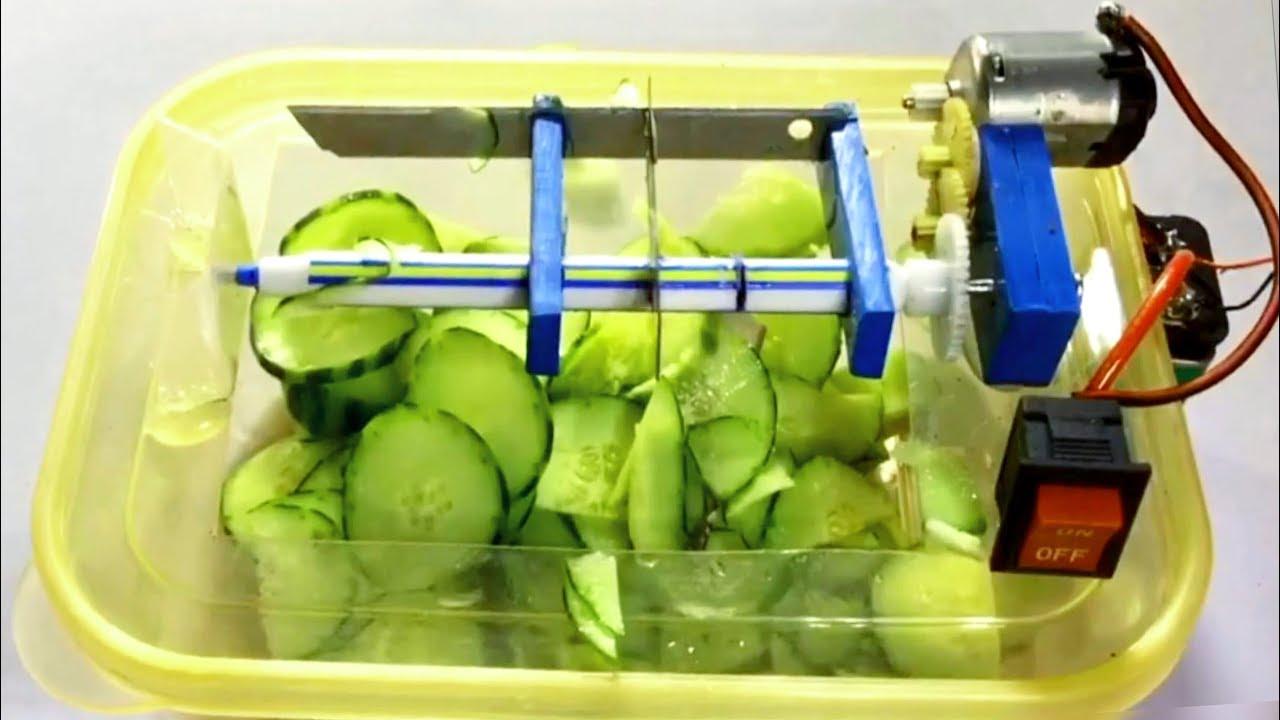 How To Make A Powerful Vegetable Cutter At Home Very Easy Youtube