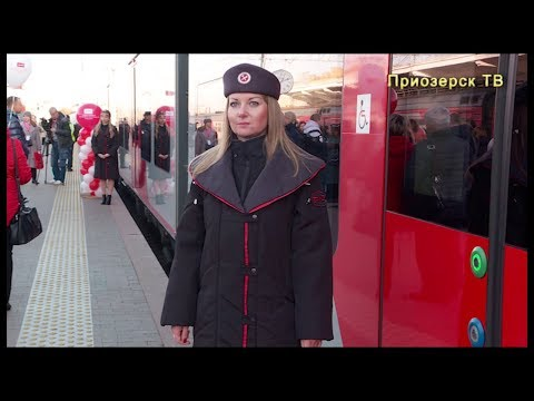 открыт седьмой маршрут скоростных электропоездов «Ласточка» от Санкт-Петербурга до посёлка Кузнечное