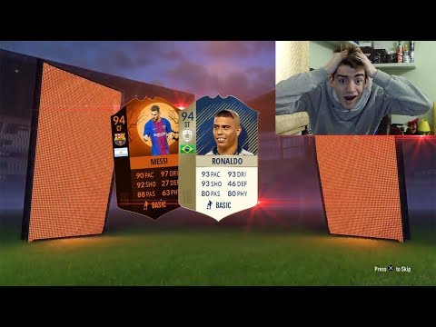 94 ICON RONALDO + 94 MESSI HERO IN A PACK !!! TOP 5 BEST PACK OPENING! FIFA 18 ITA #90