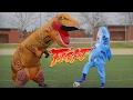 T-REX GIGANTE vs SHARK-IRA!! Reto de Futbol MUY EPICO [bytarifa]