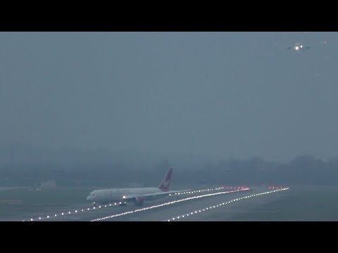 London Heathrow Airport Live Crosswind Landings