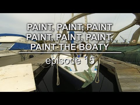 Sailing Vessel Triteia - Painting the Decks of an Alberg 30 - Episode 15