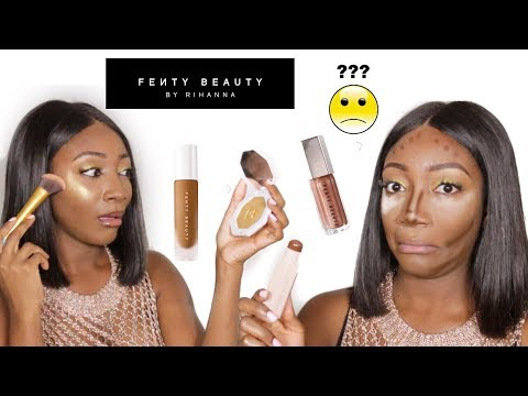 FULL FACE USING FENTY BEAUTY By RIHANNA ERM WTH: Honest Review, Tutorial & GIVEAWAY! streaming vf