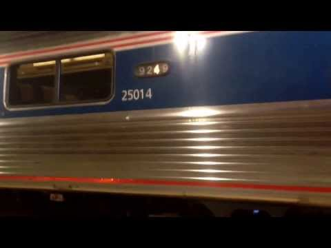 Amtrak 449 Full Station Stop at Back Bay Boston with Friendly Crew!!