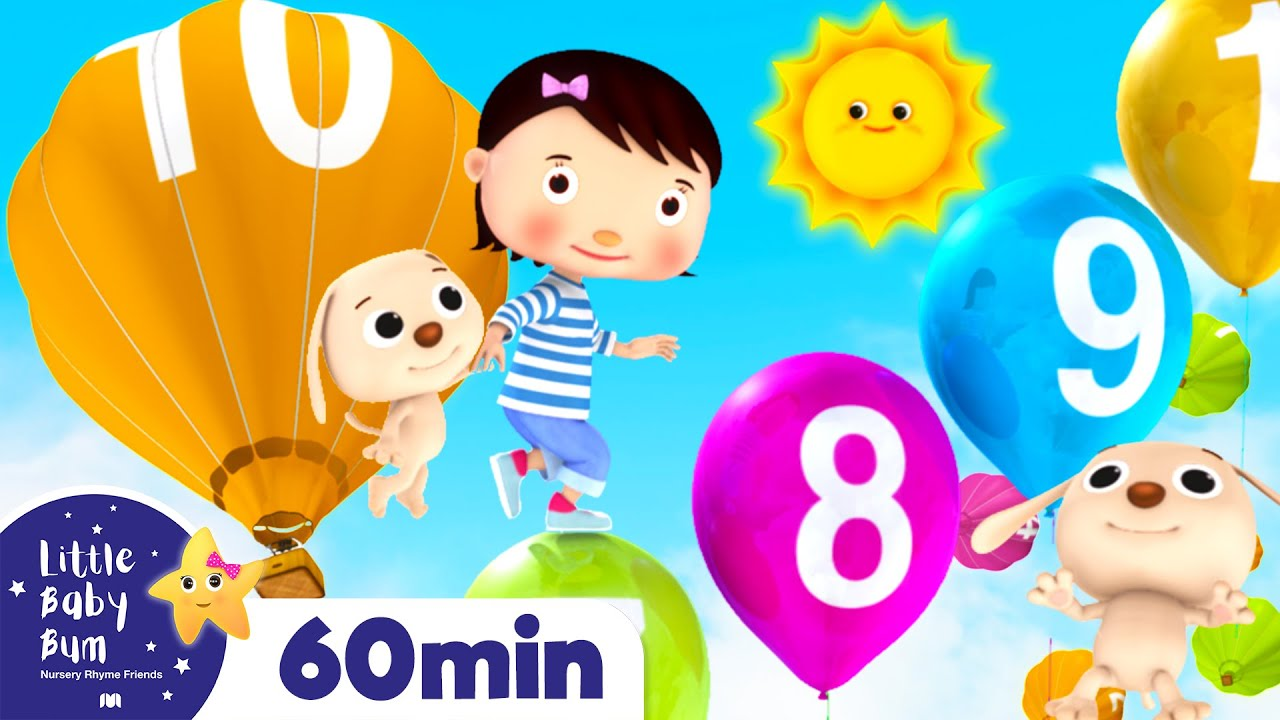 Learn to Count 1-10 | +More Nursery Rhymes & Kids Songs | ABCs and 123s | Little Baby Bum