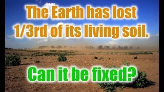 The Earth has lost 1/3rd of its living soil.  Can it be fixed?