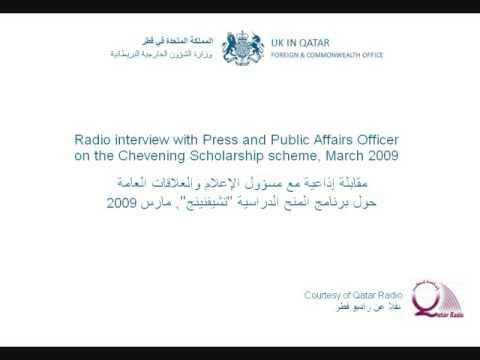 Radio interview on the Chevening Scholarship Scheme
