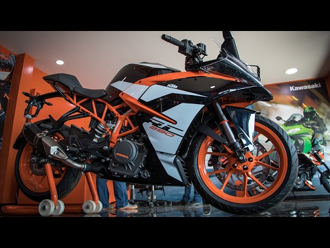NEW KTM RC 390 2017 Walkaround, Exhaust Note & First Ride