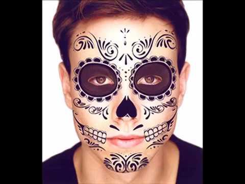 Black Skeleton Day Of The Dead Temporary Face Tattoo Kit Men Or