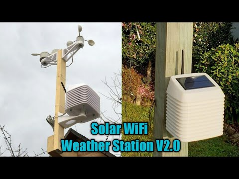 DIY Solar Powered WiFi Weather Station V2.0 || Arduino Weather Station