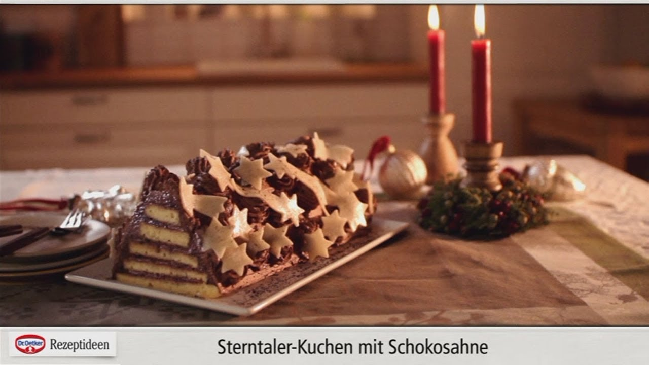 rezept sterntaler kuchen mit schokosahne von dr oetker youtube. Black Bedroom Furniture Sets. Home Design Ideas