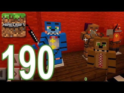 Minecraft: PE - Gameplay Walkthrough Part 190 - Freddy Fazbear's Pizzeria Simulator (iOS, Android)