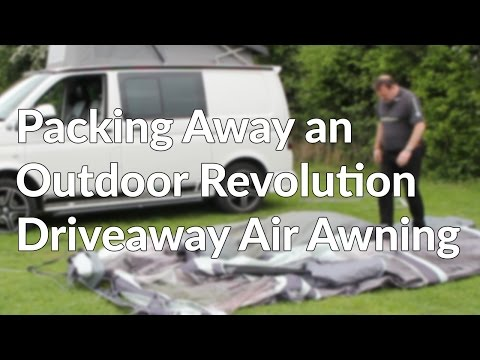 Packing Away an Outdoor Revolution Driveaway Air Awning