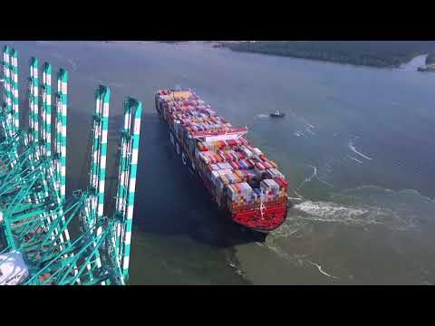 MSC Gulsun World's Largest Container Ship Calls at  Port of Tanjung Pelepas (27 July 2019)