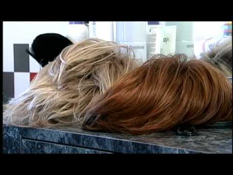Meredith Jorgensen talks to a wig specialist