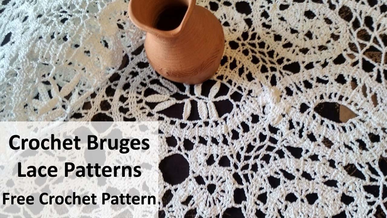 Crochet bruges lace patterns - FREE CROCHET PATTERN