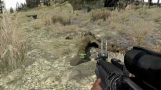 Arma 2 boot camp - basic training bug - PC Gameplay