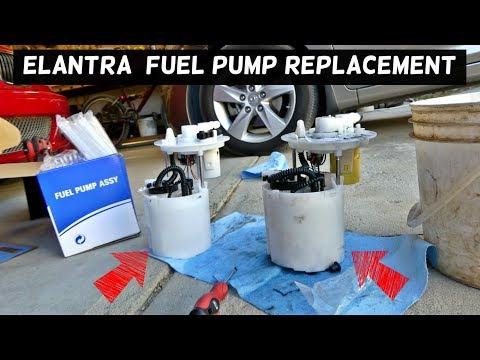 HOW TO REPLACE FUEL PUMP ON HYUNDAI ELANTRA 2011 2012 2013 2014 2015 2016