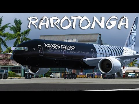 FSX - Air New Zealand 777-300er to Beautiful Rarotonga