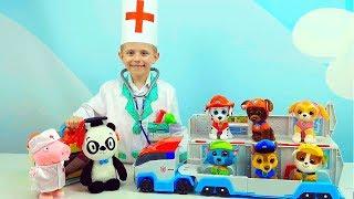 ЩЕНЯЧИЙ ПАТРУЛЬ и доктор Даник - Играем в ДОКТОРА и лечим щенков Paw Patrol. Видео для детей