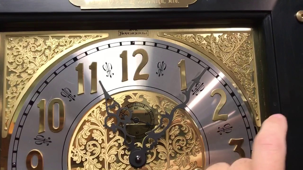Sovereign Clock Company Wall Grandfather Clock Youtube