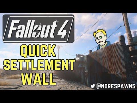 Fallout 4 - Quick Set-Up Settlement Wall