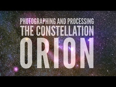 Photographing and Processing the Constellation Orion: Image Stacking and LRGB Processing