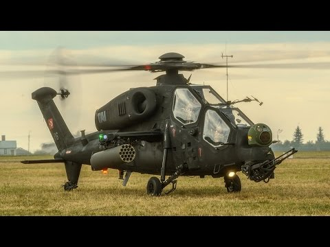 T129 ATAK - Turkish Attack Helicopter in Action