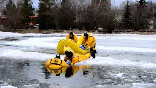 Ice Rescue Training - Grande Prairie Fire Department - Muskoseepi Pond