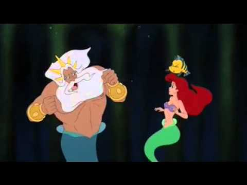 The Little Mermaid - King Triton Yells at Ariel