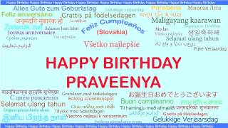Praveenya   Languages Idiomas - Happy Birthday